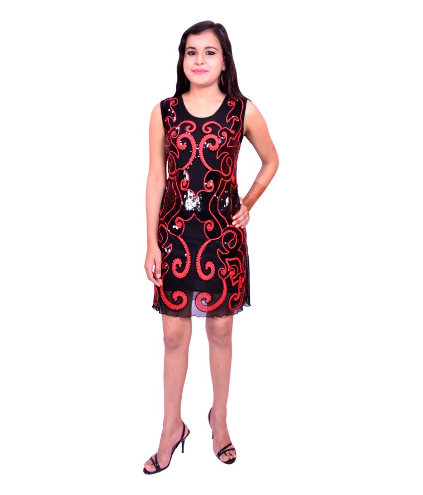 Krazzy Collection Black Poly Viscose Dresses
