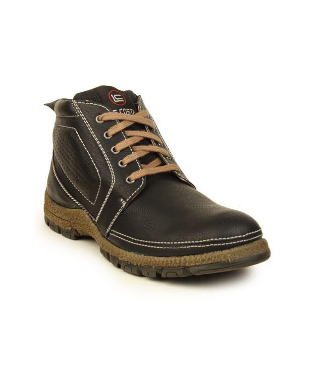 Le Costa Black Faux Leather Boots