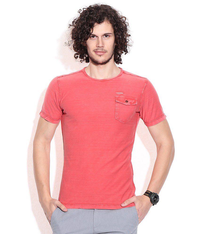 Mossimo Orange Cotton T-shirt