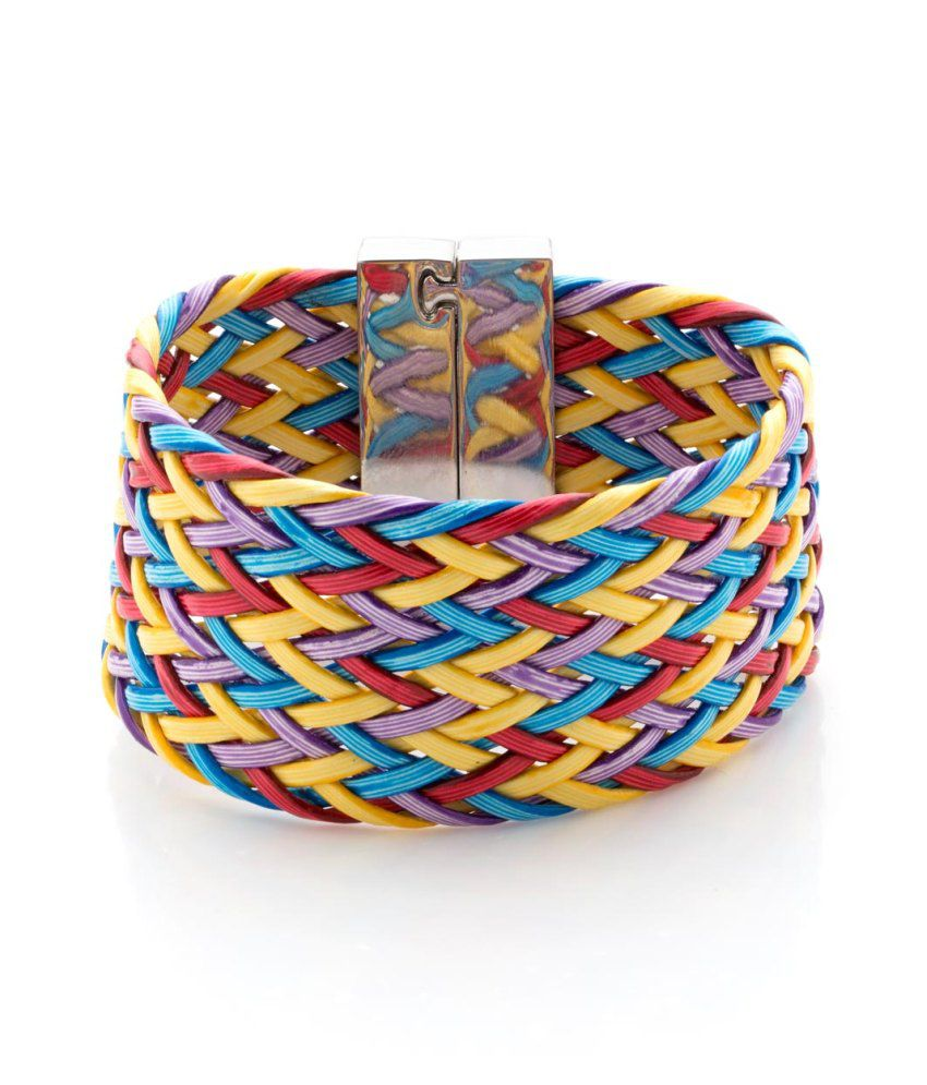 Voylla Colorful Interlaced Band With Magnetic Lock, Size 2.5