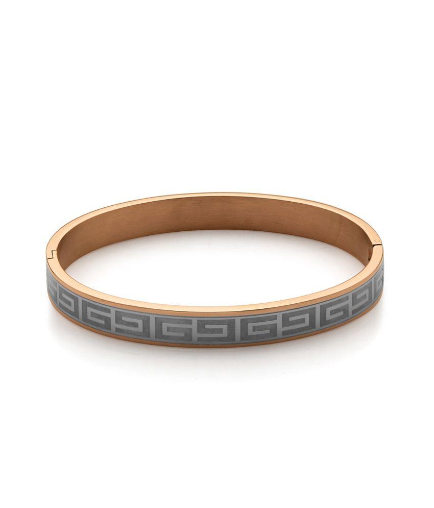 Voylla Rose Gold Plating Stainless Steel Bracelet Band, Size 2.5