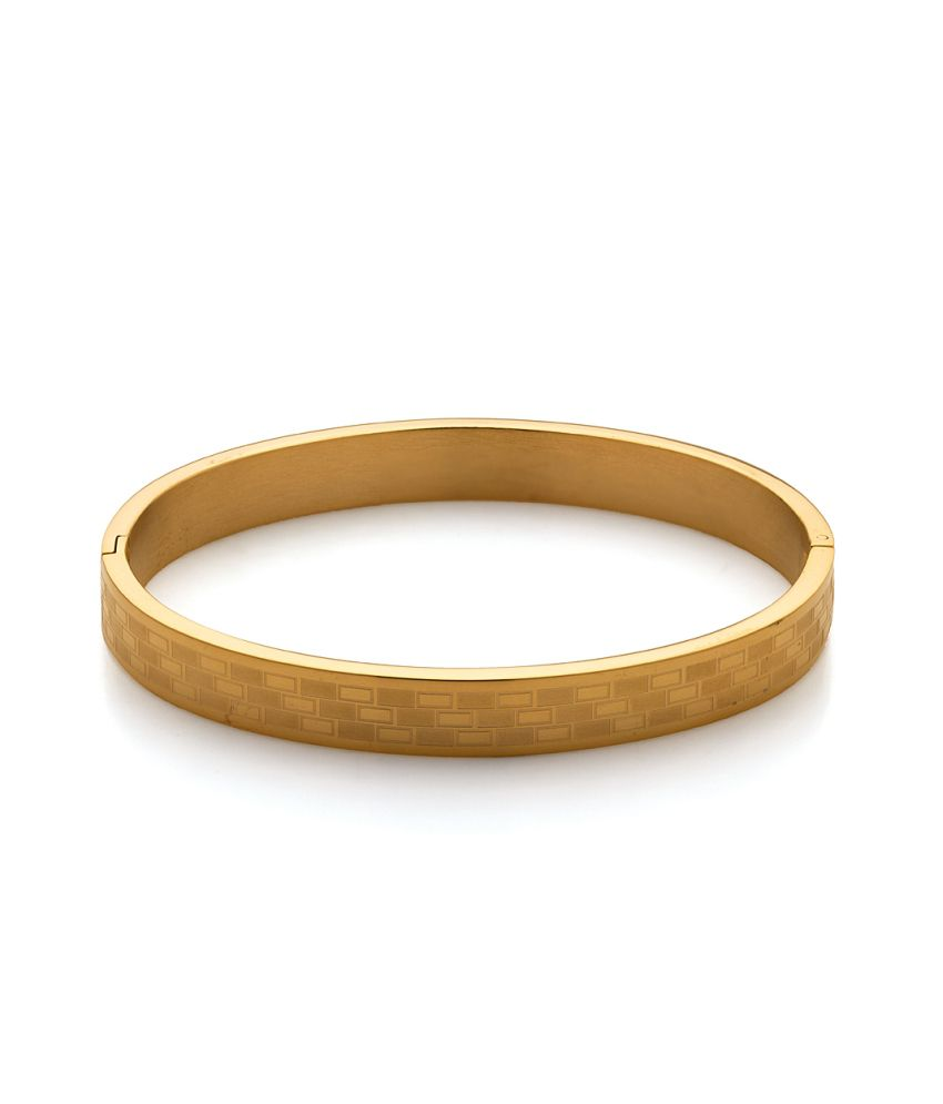Voylla Yellow Gold Plating Stainless Steel Bracelet Band, Size 2.5