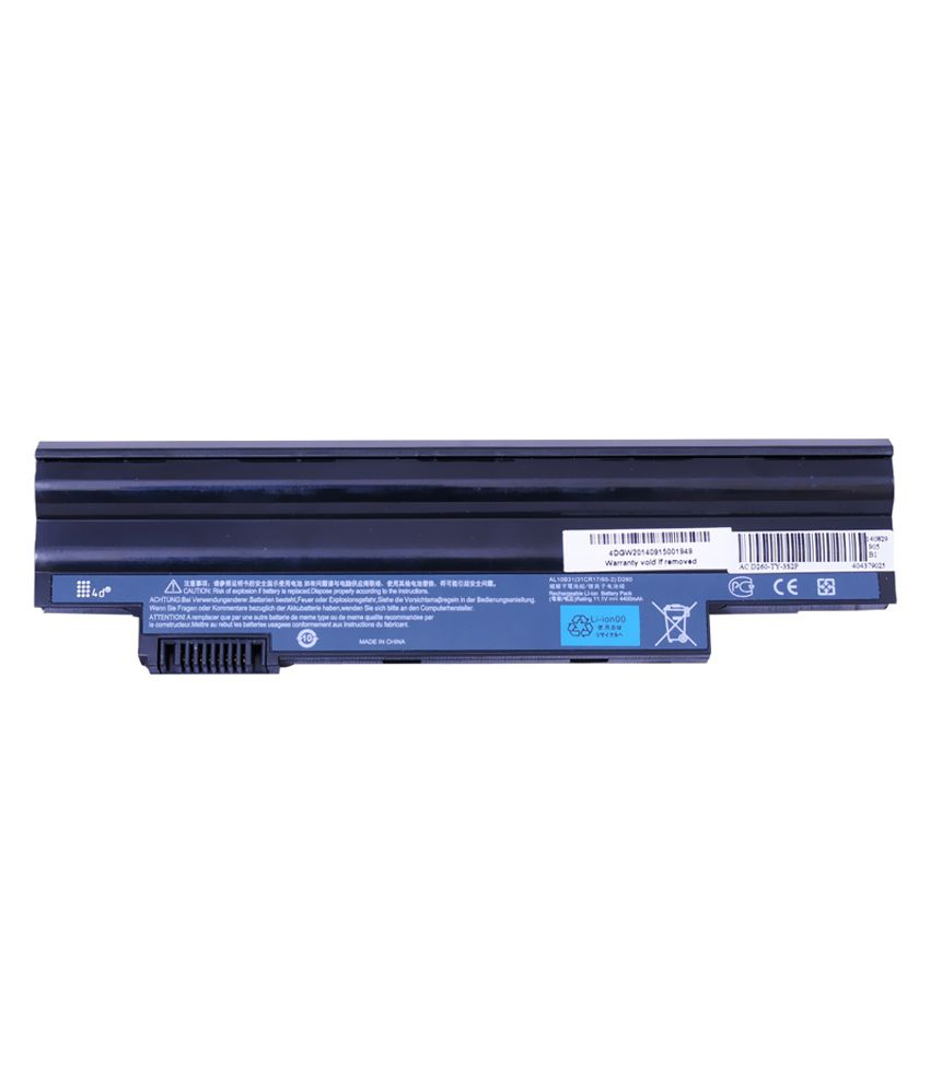 4d Acer Aspire Aod260-n51b/kf 6 Cell Laptop Battery