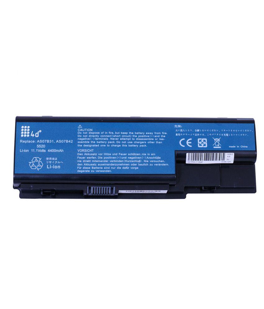 4d Acer Aspire 5520g-402g25mi 6 Cell Laptop Battery