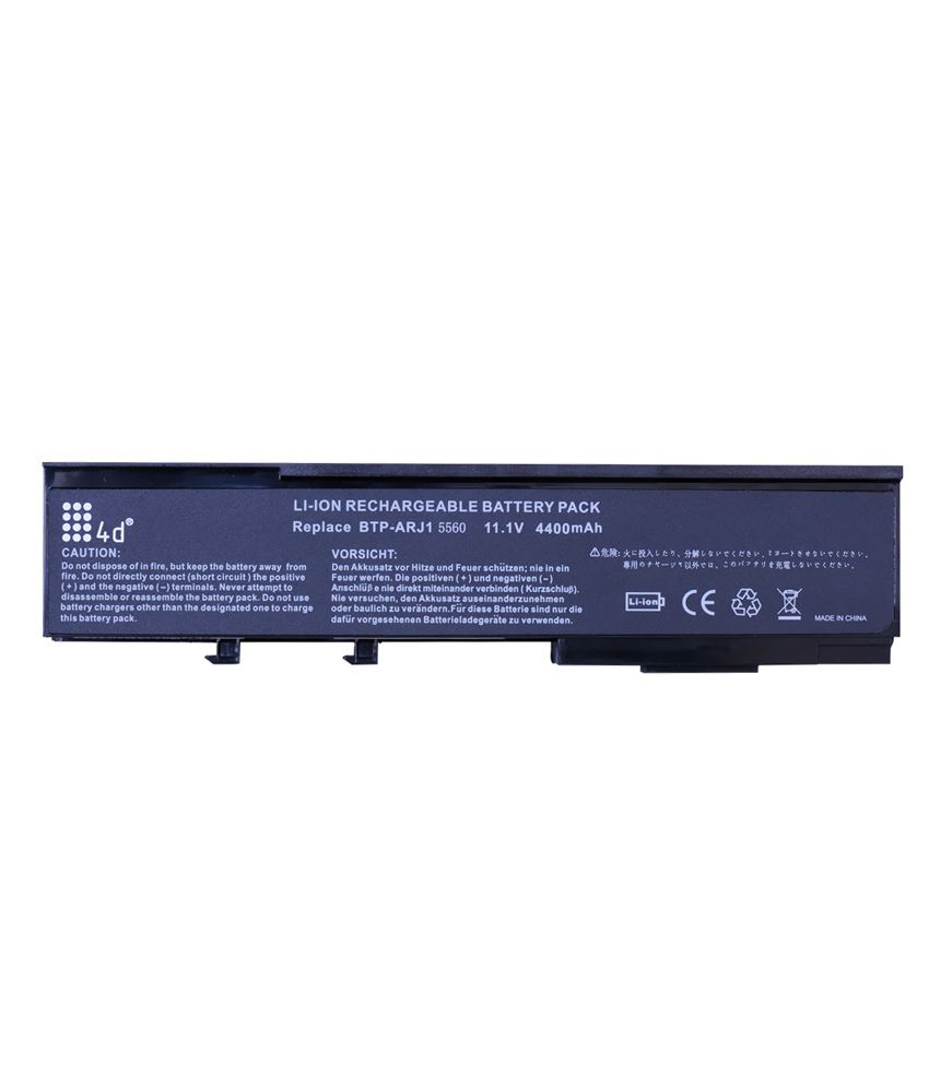 4d Acer Aspire 6231-401g12mi 6 Cell Laptop Battery