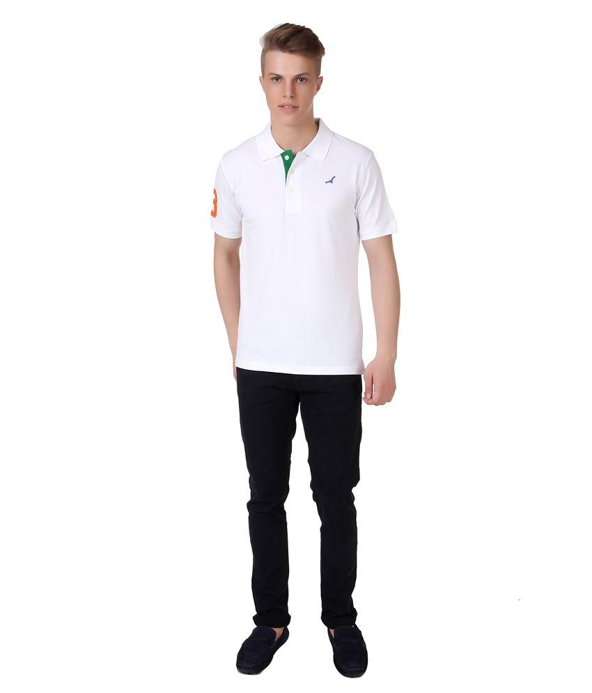 American Crew Men s Polo Collar T shirt With No 3 Applique Buy