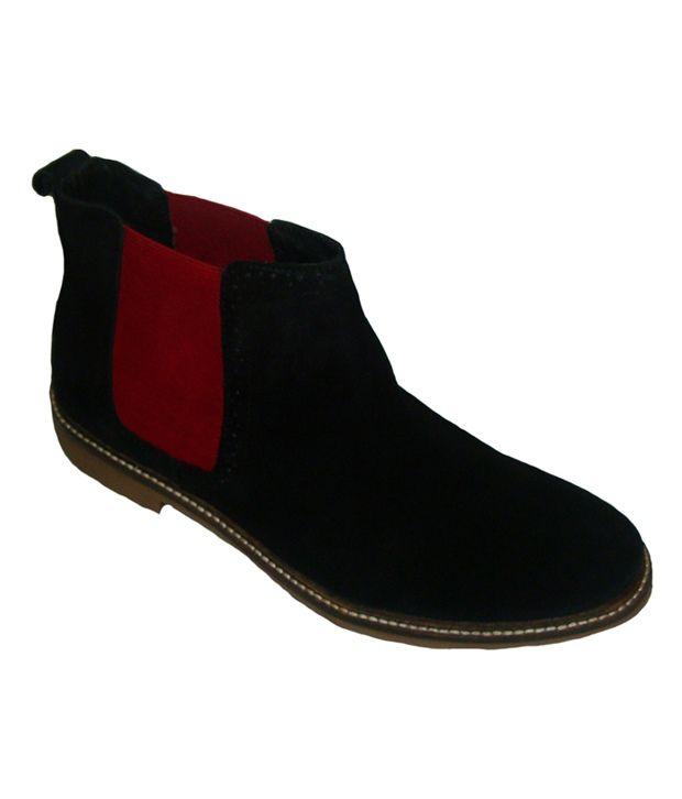 Claude Lorrain Mens Semi Formal Leather Boot - Black