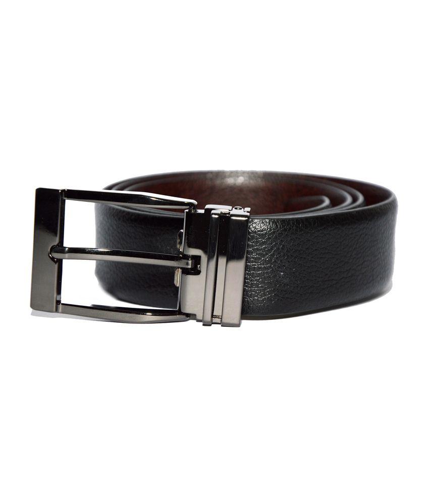 Dennison Crocodile Skin Texture Black and Brown Reversible Geniune Italian Leather Formal Belt for Men