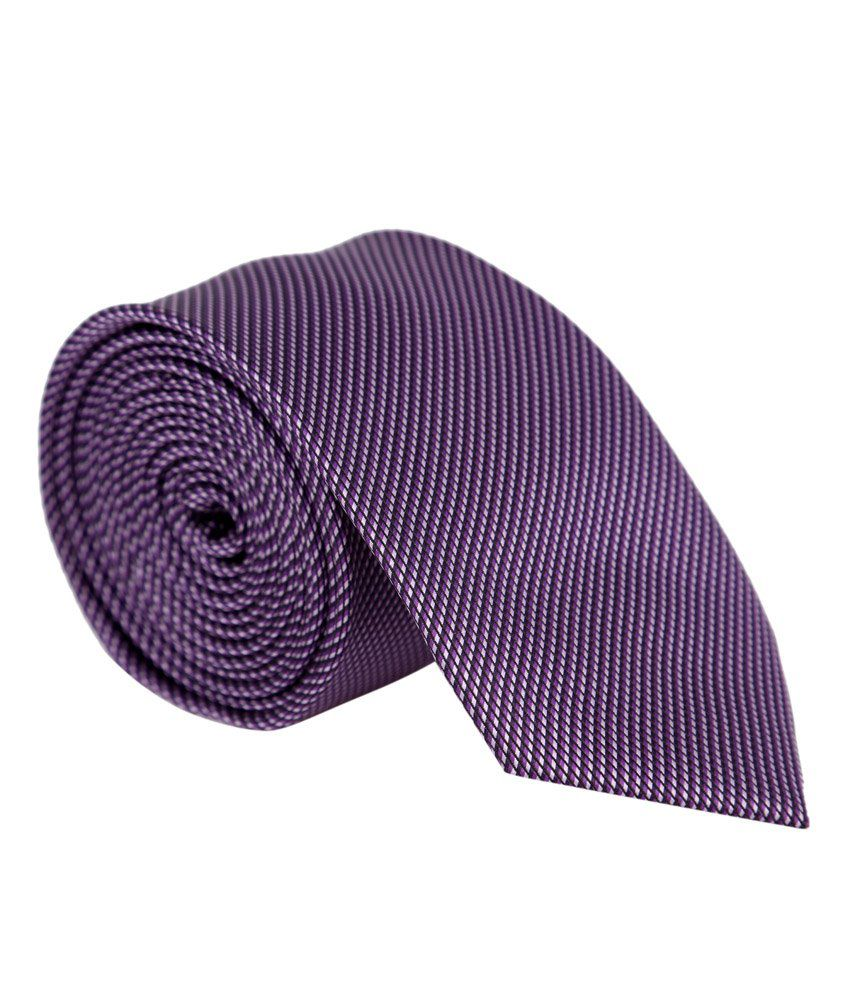Bombay High Purple Polyester Checkered Formal Seven Fold Tie for Men