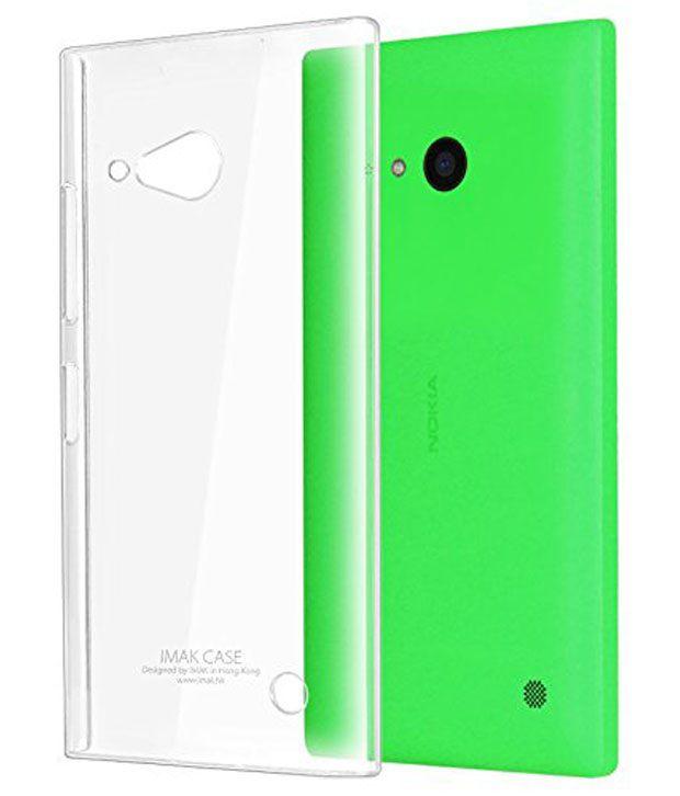 best website 0ee1a 4ac74 Newtronics Imak Crystal Clear Transparent Hard Back Cover Case For Nokia  Lumia 730 Dual Sim