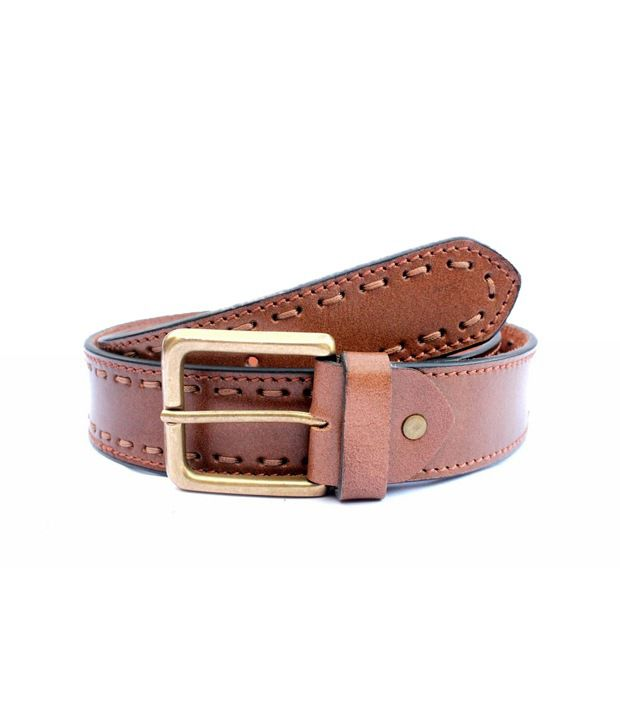 Tops Men Tan Leather Belt