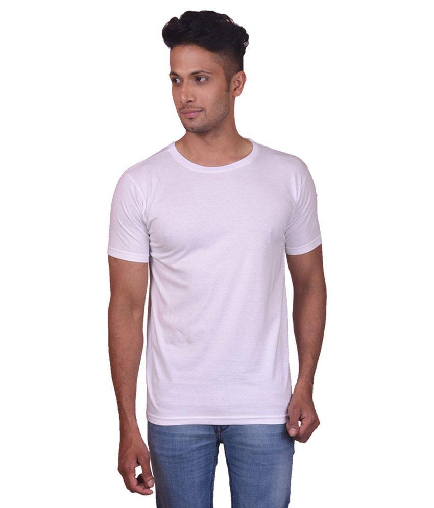 Truedesign White Roundneck Half Sleeve Men's T-shirt