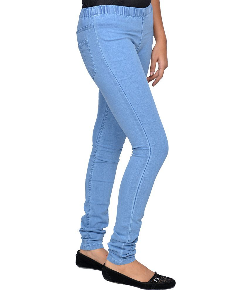 2847a9d3c657fa Buy Smart Lady Ladies Ice Blue Denim Jeggings Online at Best Prices ...
