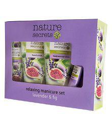 Oriflame Nature Secrets Relaxing Manicure Set Lavender & Fig - Set Of 4