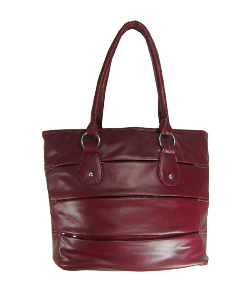 Essart Maroon P.u. Shoulder Bag