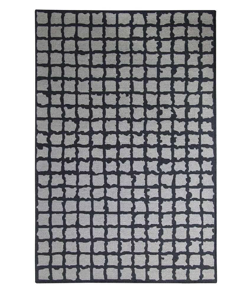Riva Carpets Gray Checks Rug