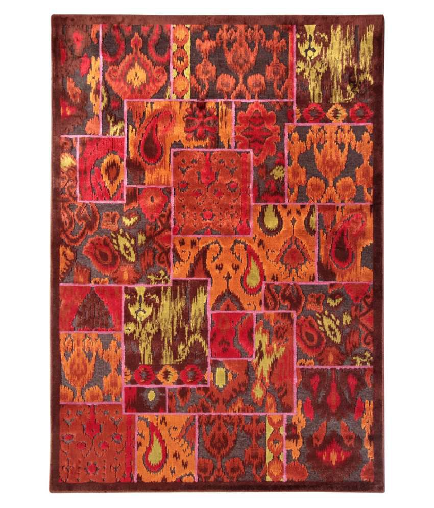 Riva Carpets Red Abstract Rug
