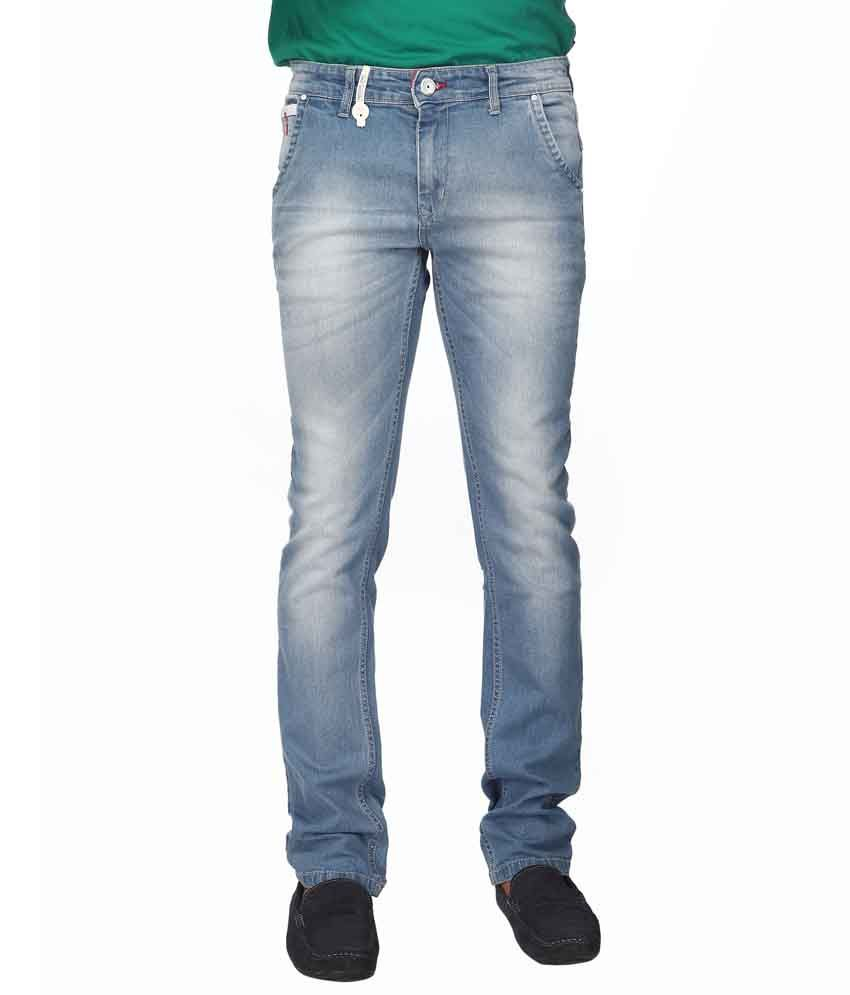 Streetguys Blue Cotton Blend Slim Men's Jeans