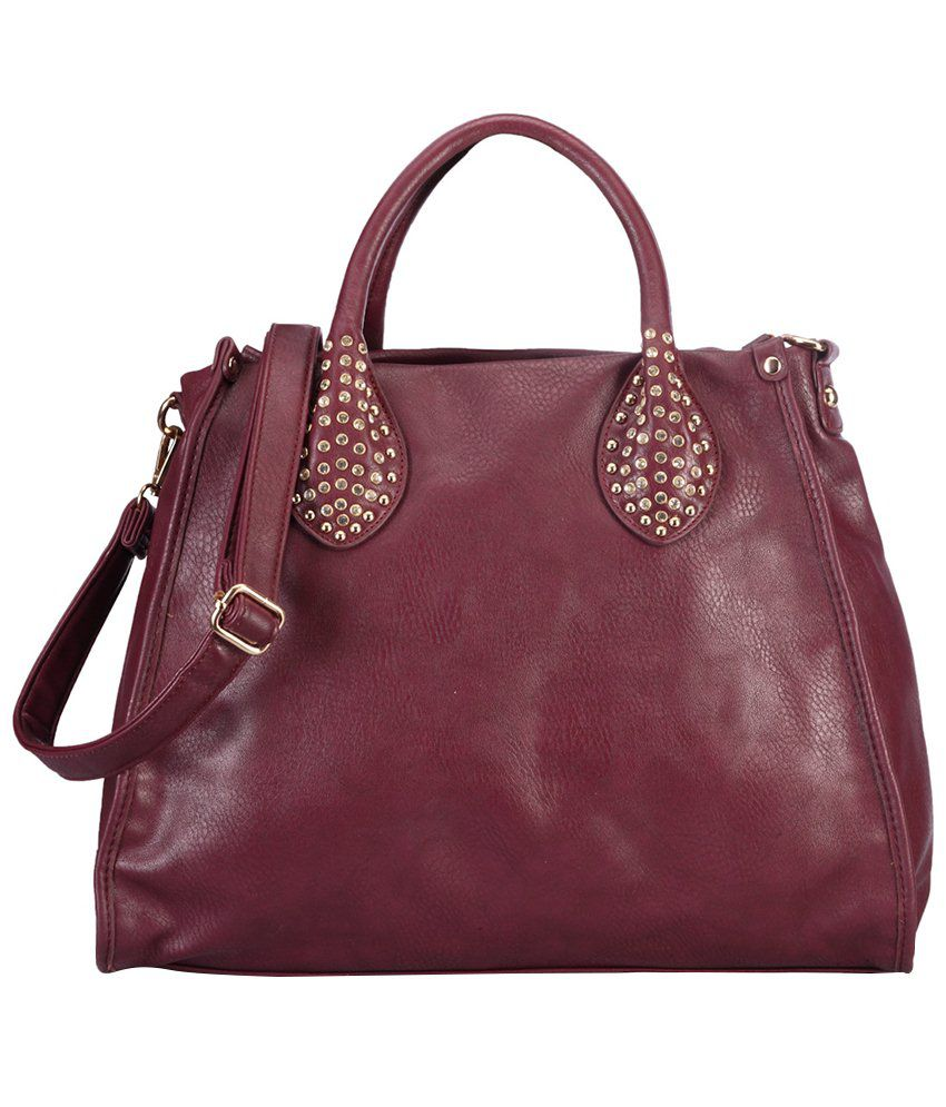 Bag Craze Maroon Satchel Bag