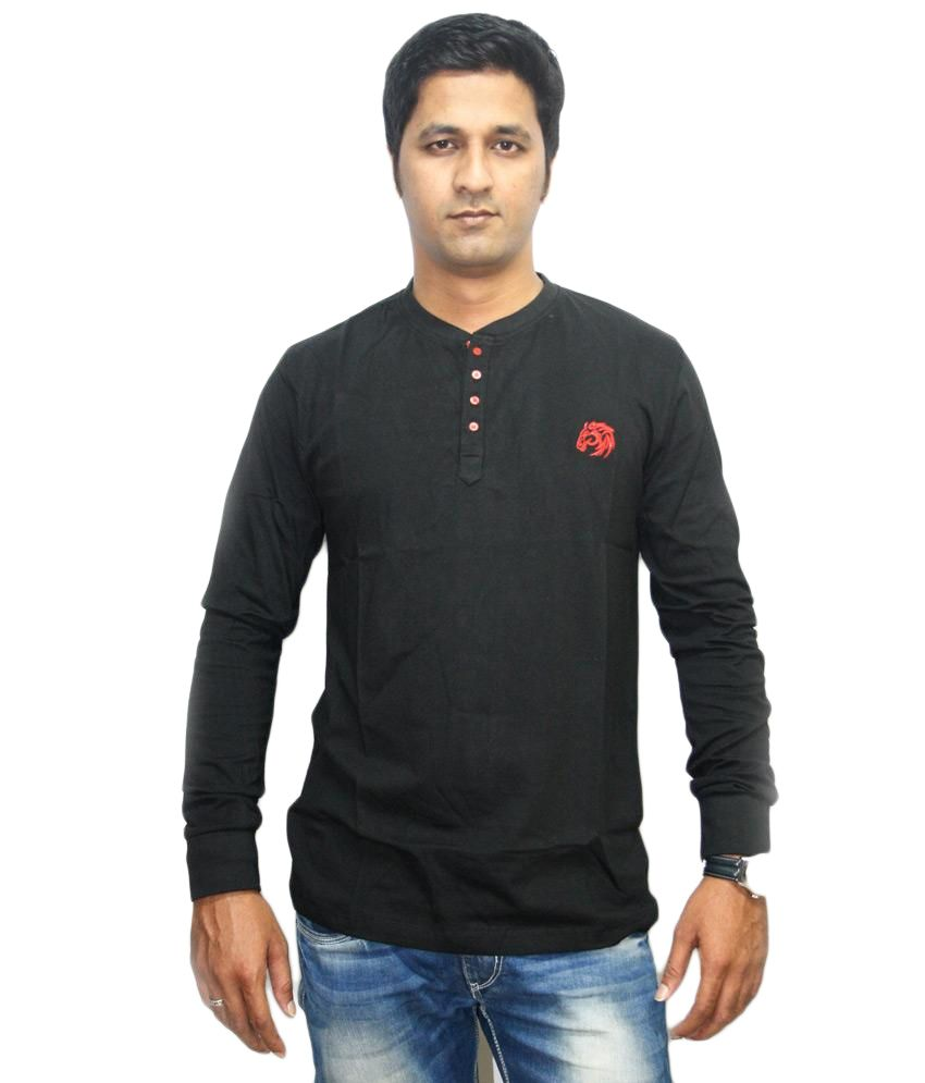 Clydesdale black cotton full sleeve polo t shirt buy for Full sleeve polo t shirts