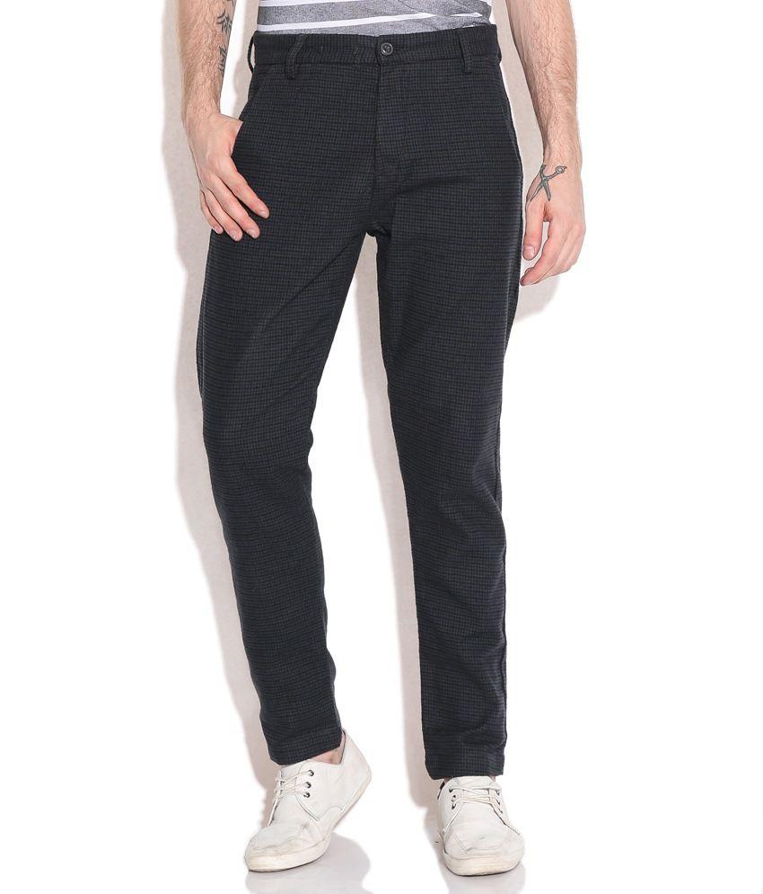 Jack & Jones Gray Regular Formals Trousers & Chinos