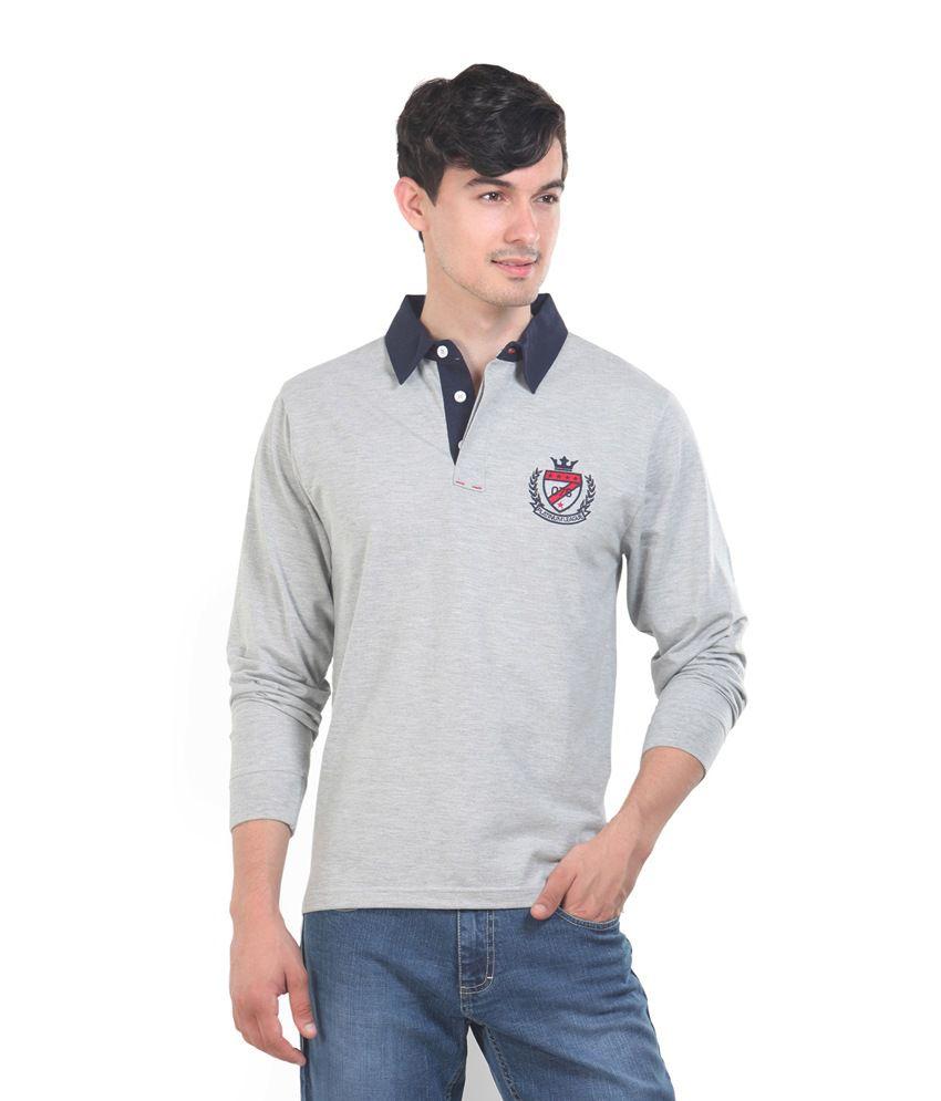 Platinum League Men's Cotton T-shirt- Gray