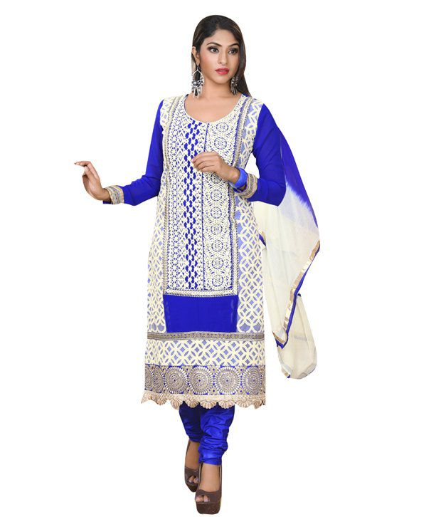 Vibes Pure Georgette Straight Fit Dress Material