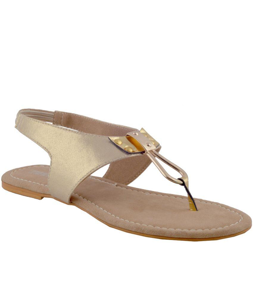 Amukta Gold Laces Small Back Strap Sandal