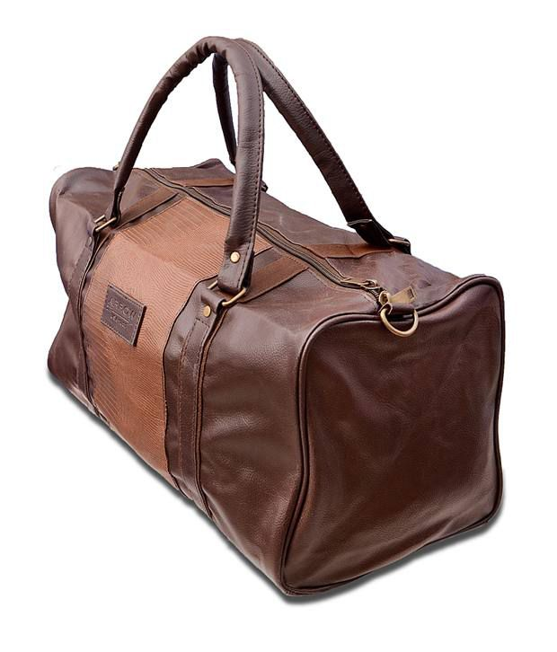 Arrow Brown Leather Travel Bag