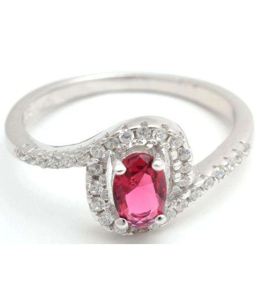 Luminious Silver Contemporary Diamond Ring