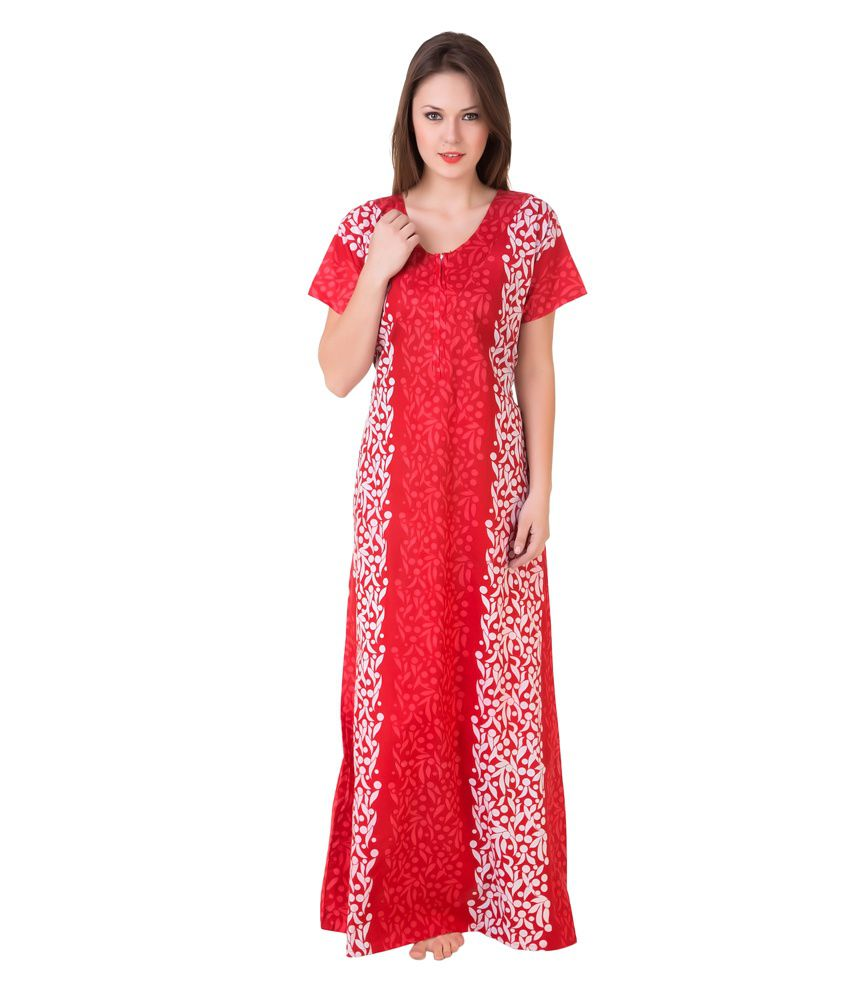 Buy Masha Cotton Nighty   Night Gowns Online at Best Prices in India -  Snapdeal 679782a22