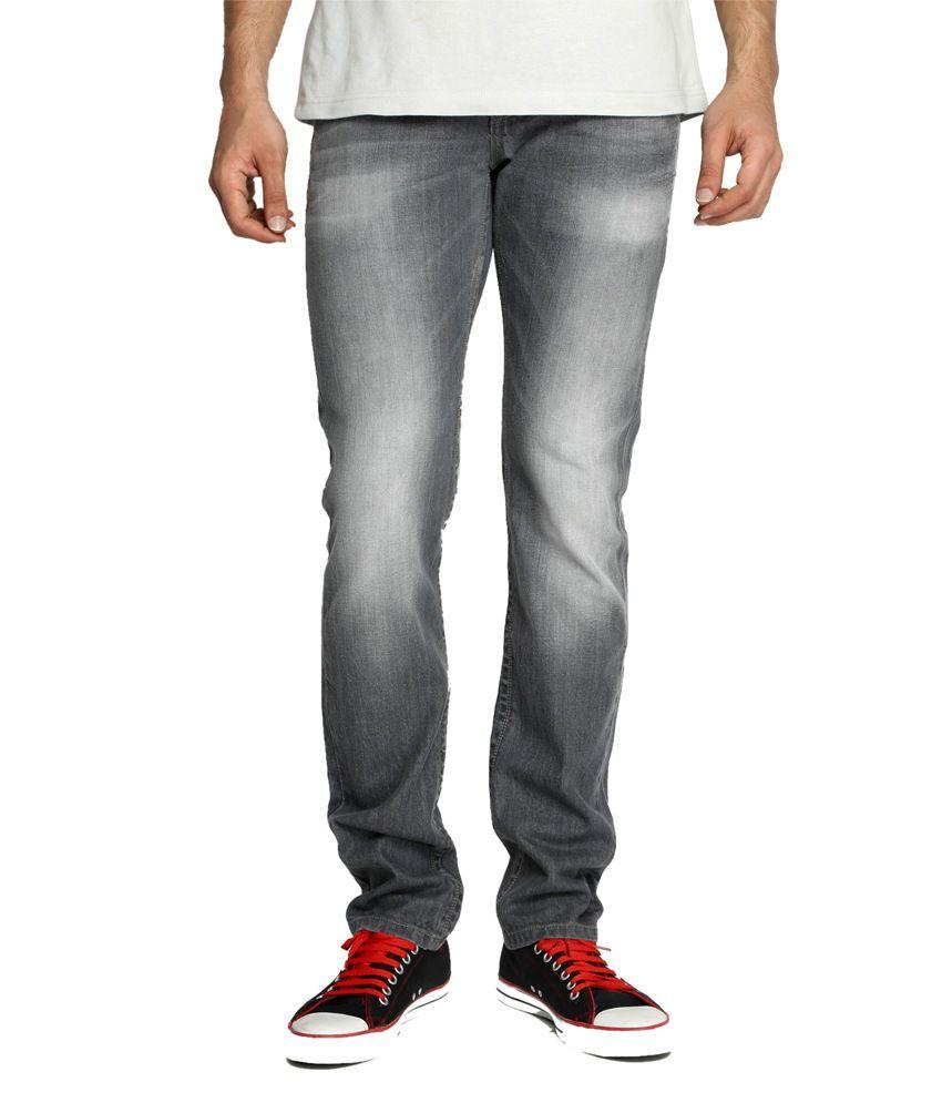 Rookies Grey Slim Fit Jeans