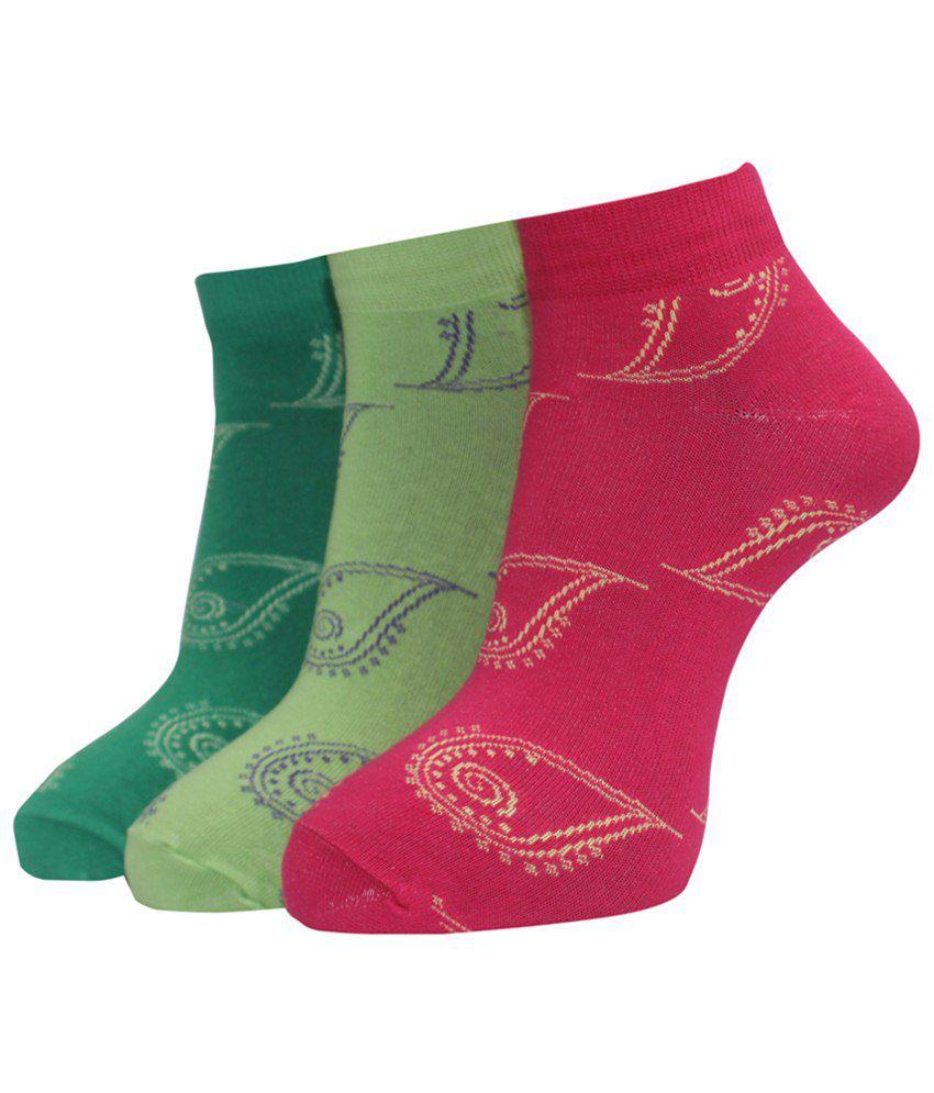 A&G Stunning Ankle Length Socks For Women Pack Of 3