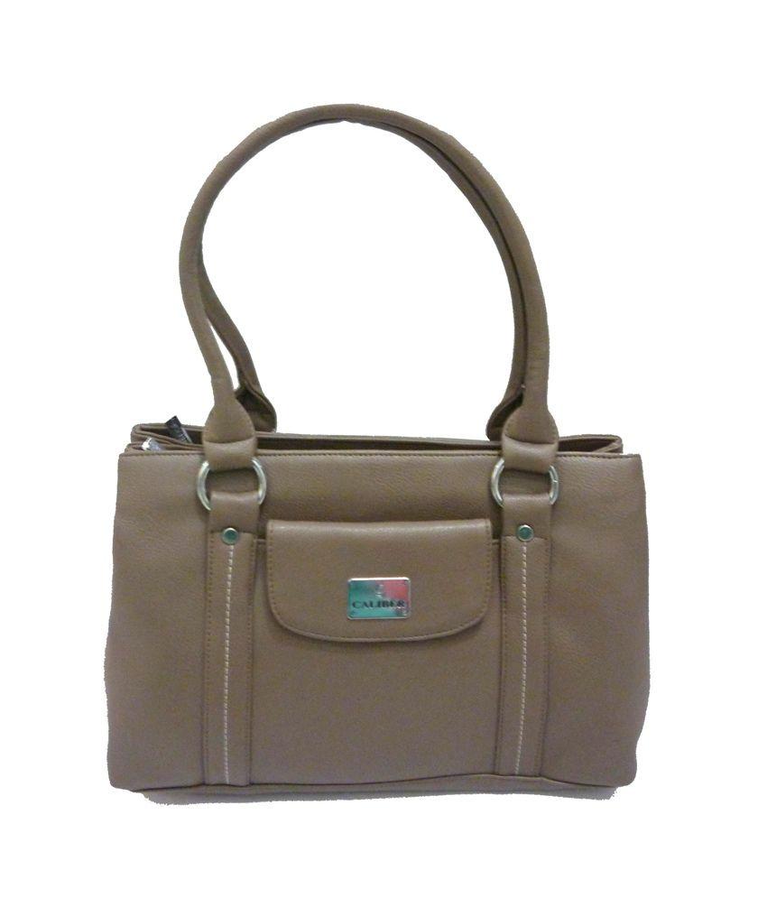 Caliber Brown Women Hand Bag