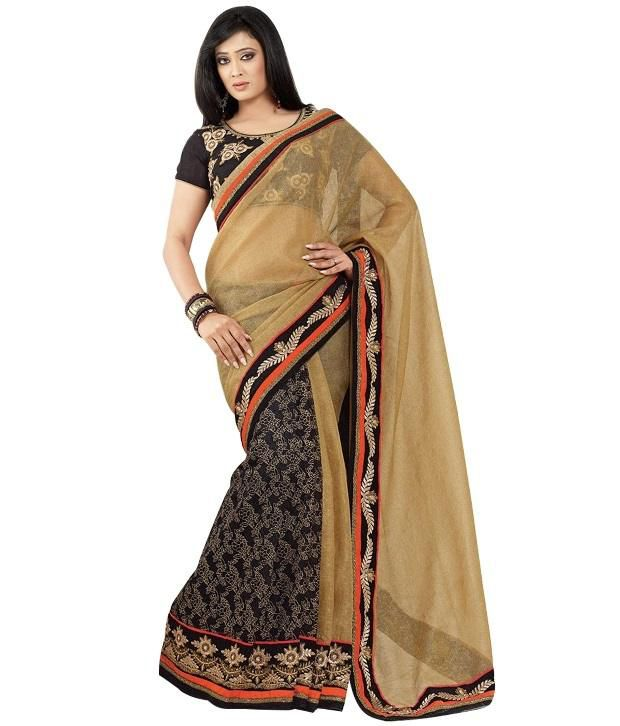 2ad0353a1880cf Cbazaar Beige And Black Shweta Tiwari Saree - Buy Cbazaar Beige And Black  Shweta Tiwari Saree Online at Low Price - Snapdeal.com