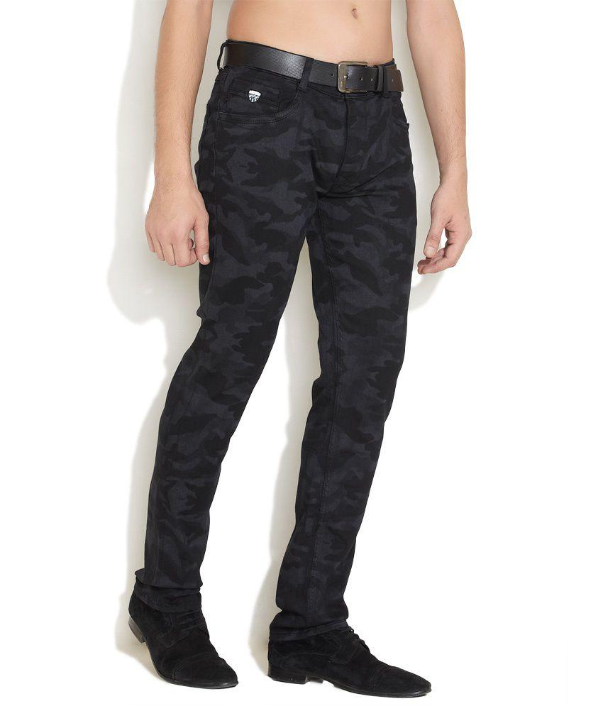 John Players Black Camo Skinny Jeans