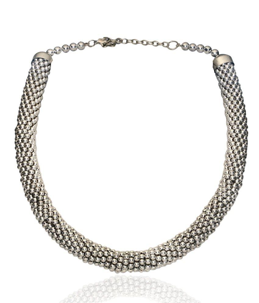 Kiosha Silver Beads Necklace