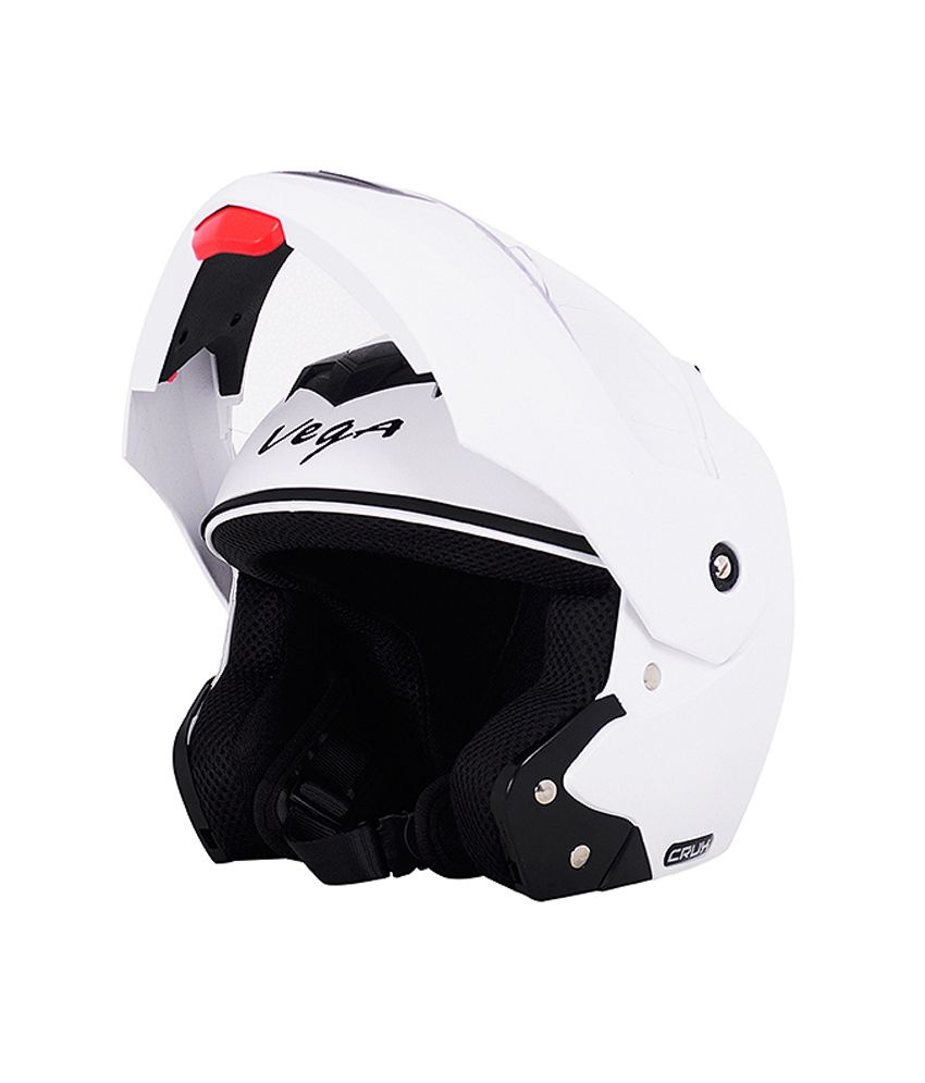 Vega Crux Full Face White Helmet