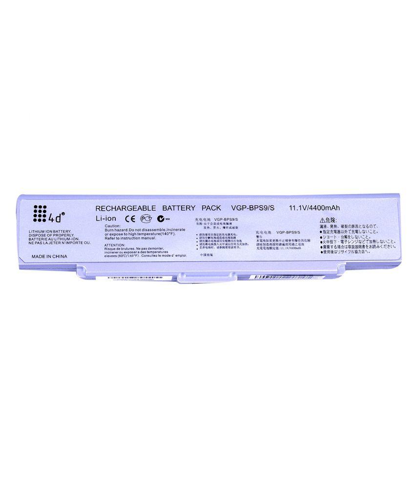 4D Sony Vaio VGN-CR125E/B 6 Cell Laptop battery