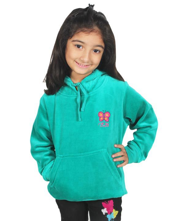 Eight26 Full Sleeves Green Color Sweatshirt For Kids