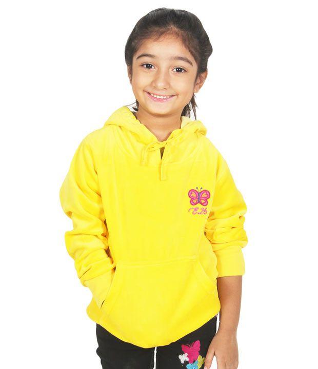 Eight26 Full Sleeves Yellow Color Sweatshirt For Kids