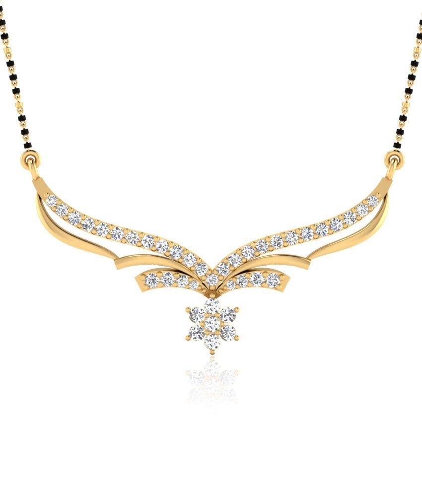 Iskiuski Iditra Mangalsutra Set In 0.34ct Diamonds In 925 Sterling Silver