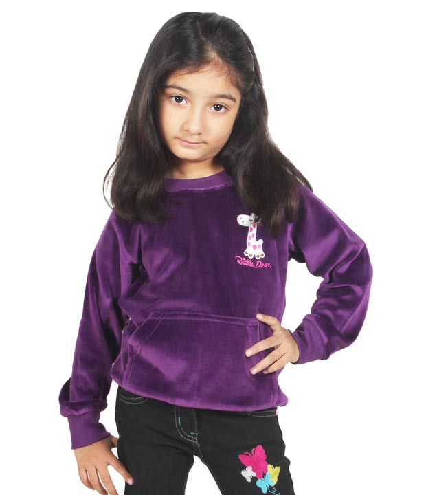Little Dove Full Sleeves Purple Color Sweatshirt For Kids