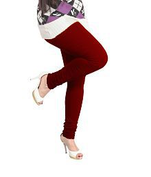 Lux Lyra Women's Maroon Churidar Leggings