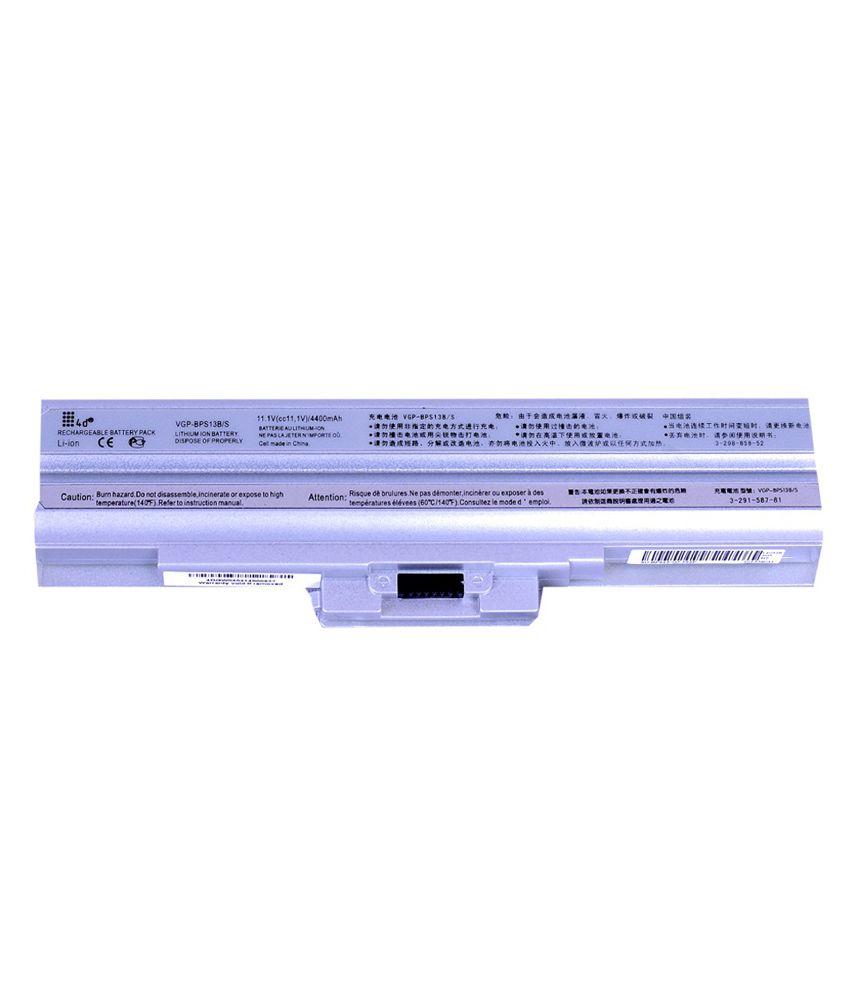 4d Sony Vaio Vgn-cs13h/p 6 Cell Laptop Battery