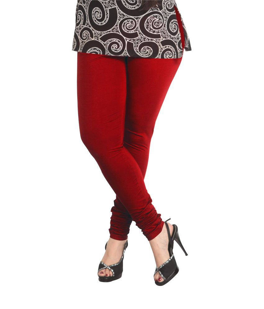 72821e8a66b559 Lux Lyra Women's Red Churidar Leggings Price in India - Buy Lux Lyra  Women's Red Churidar Leggings Online at Snapdeal