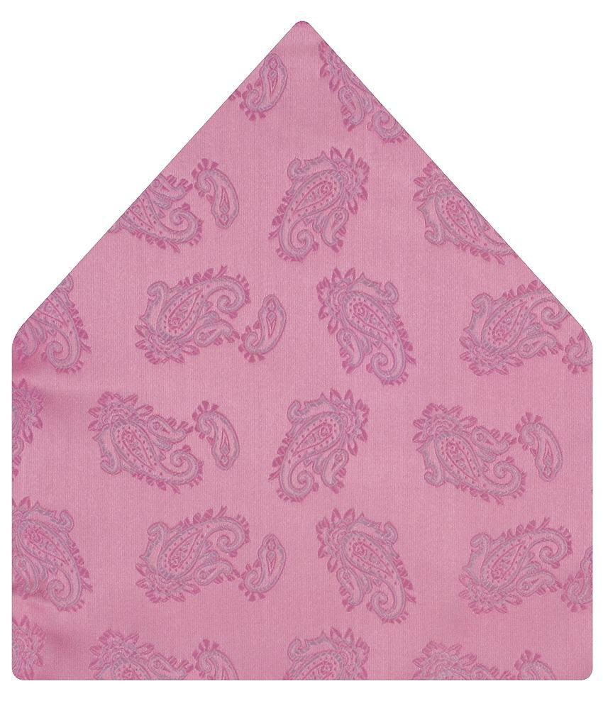 Tiekart Attractive Pink Paisley Pocket Square