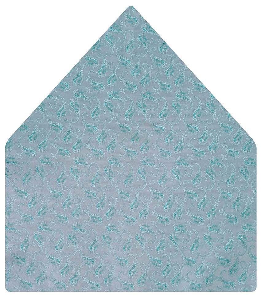 Tiekart Marvellous Gray Paisley Pocket Square