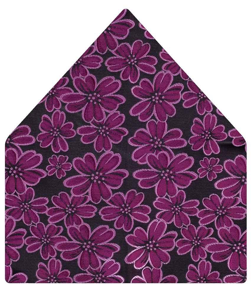 Tiekart Purple Floral Pocket Square