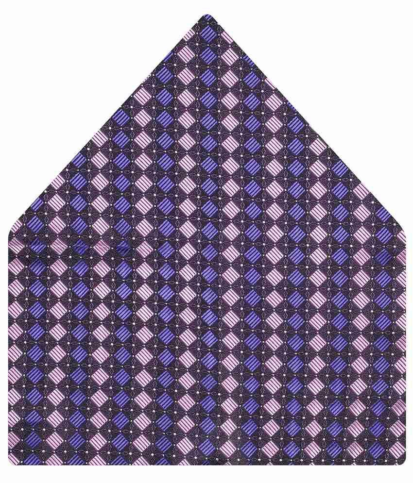 Tiekart Purple Striped Pocket Square